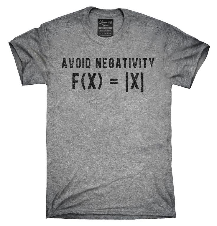 Avoid Negativity Math Shirt, Hoodies, Tanktops