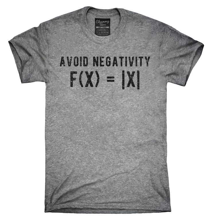Avoid Negativity Math Shirt, Hoodies, Tanktops