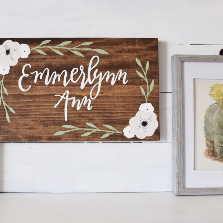 This sign is handmade and painted custom just for you. Perfect for nursery's, baby shower gifts, weddings or birthdays. To purchase go to https://www.etsy.com/shop/therusticviolet