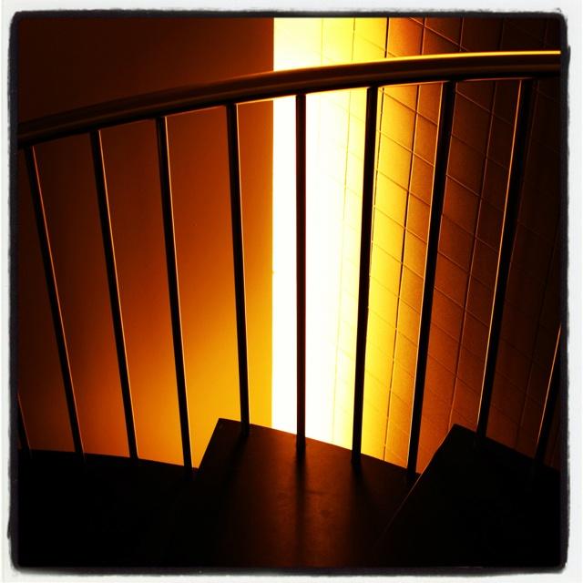 The stairwell in our hotel in Bilbao, Spain.: Stairwel, Bilbao, Spain, Hotels