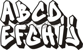 graffiti alfabeto: vector de la fuente de graffiti alfabeto
