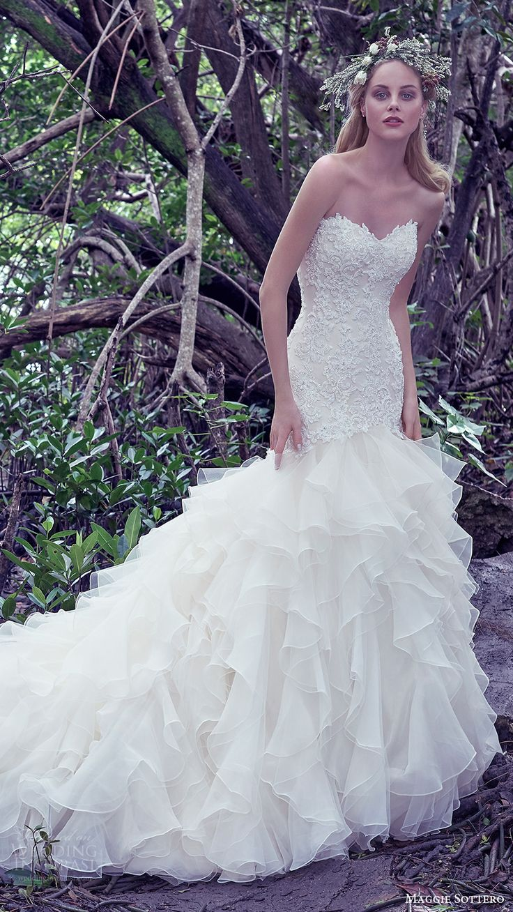 1000 ideas about ruffle wedding dresses on pinterest for Wedding dresses with ruffles