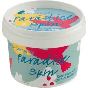 Paradise Skin on runsas ja kosteuttava kasvipohjainen voide, joka imeytyy helposti, ei jätä ihoa rasvaiseksi. Mieto tuoksu. Käyttöohje: Levitä sopiva määrä voidetta kasvoille sormenpäilläsi pyörein hierovin liikkein. Muista erityisesti T-alue.