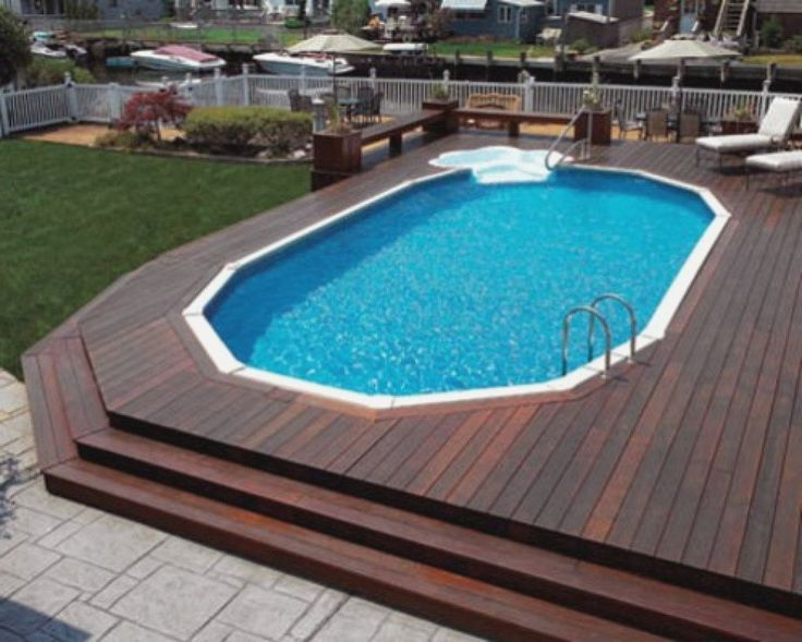 Free Standing Above Ground Swimming Pools: Steps For Above Ground Pool Without Deck