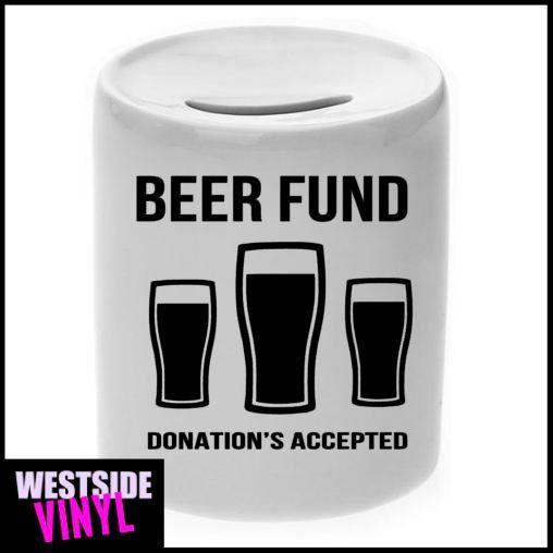 Beer Fund, Money Box, Money Jar, Money Saver, Money Boxes, Coin Savers, Kids Money Jar, Rainy Day Savings, Save For Anything, Fun Gifts,Gift