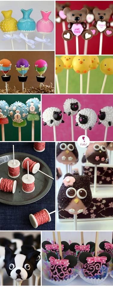 diferentes motivos para decorar cakepops para fiestas infantiles