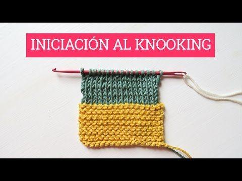 Iniciación al knooking: punto bobo y punto jersey - YouTube