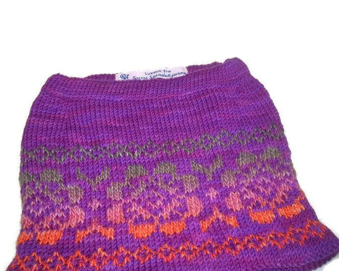 Hand Knitted Skirt With Fair Isle Pattern Todler Size 2 Years EU SELLER