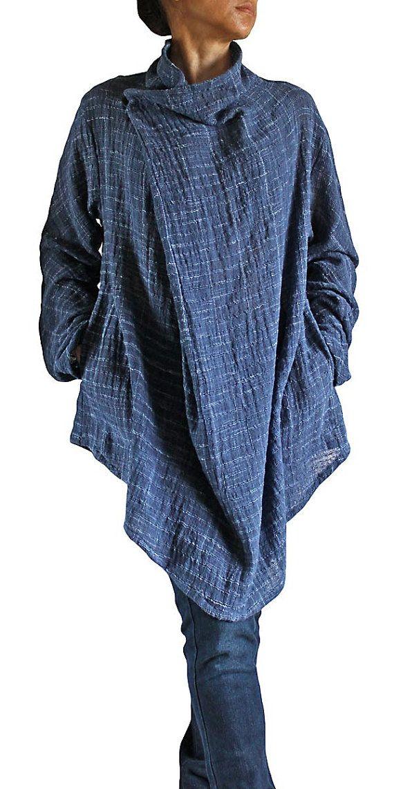 Hand Woven Cotton Nomad Tunic BFS09704 by SawanAsia on Etsy, ¥7990