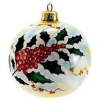 Christmas Ornament: Red Pia Design - Round Ball Sm. - Mediterranean - Christmas Ornaments - by Artistica Italian Gallery