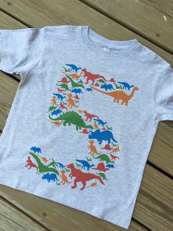 THIS with a 3 and his name on the back. Personalized Dinosaur Shirt Personalized Birthday by hopesodreams