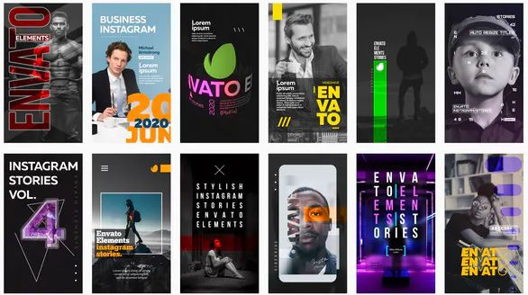 Videohive 12 Instagram Stories Vol 4 Advertising Business Facebook Igtv Smm Insta Instagram Instagramstory In 2020 Instagram Story Instagram Business Instagram