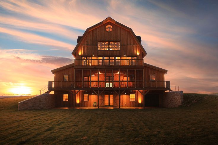 Majestic Gambrel Barn Home | Rustic and Stylish | Sand Creek Post & Beam Barn Homes are Customized Designed  Sand Creek Post & Beam https://www.facebook.com/SandCreekPostandBeam/