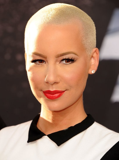 20 Pretty Pixies to Inspire Your Short Haircut: While it might not be called a pixie, Amber Rose's tight crop is ace for anyone with strong facial features and a penchant for red lipstick.