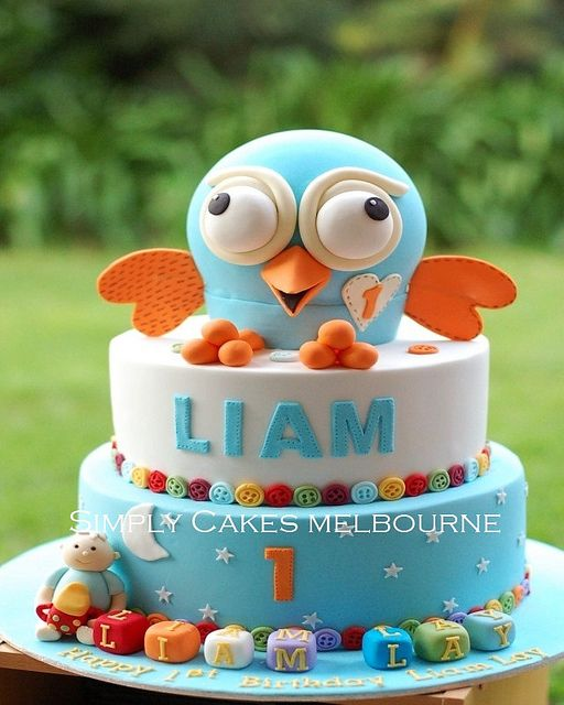 Hoot cake for Liam by Simply Cakes, via Flickr
