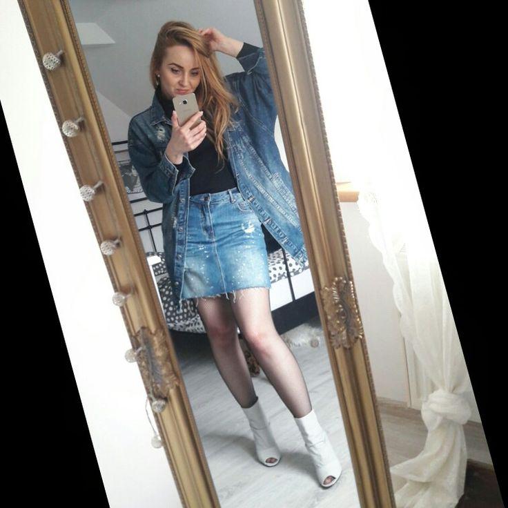#denim #totaljeans #outfit #fashion #ootd #look Fallow me on my IG @angelina_grzelak