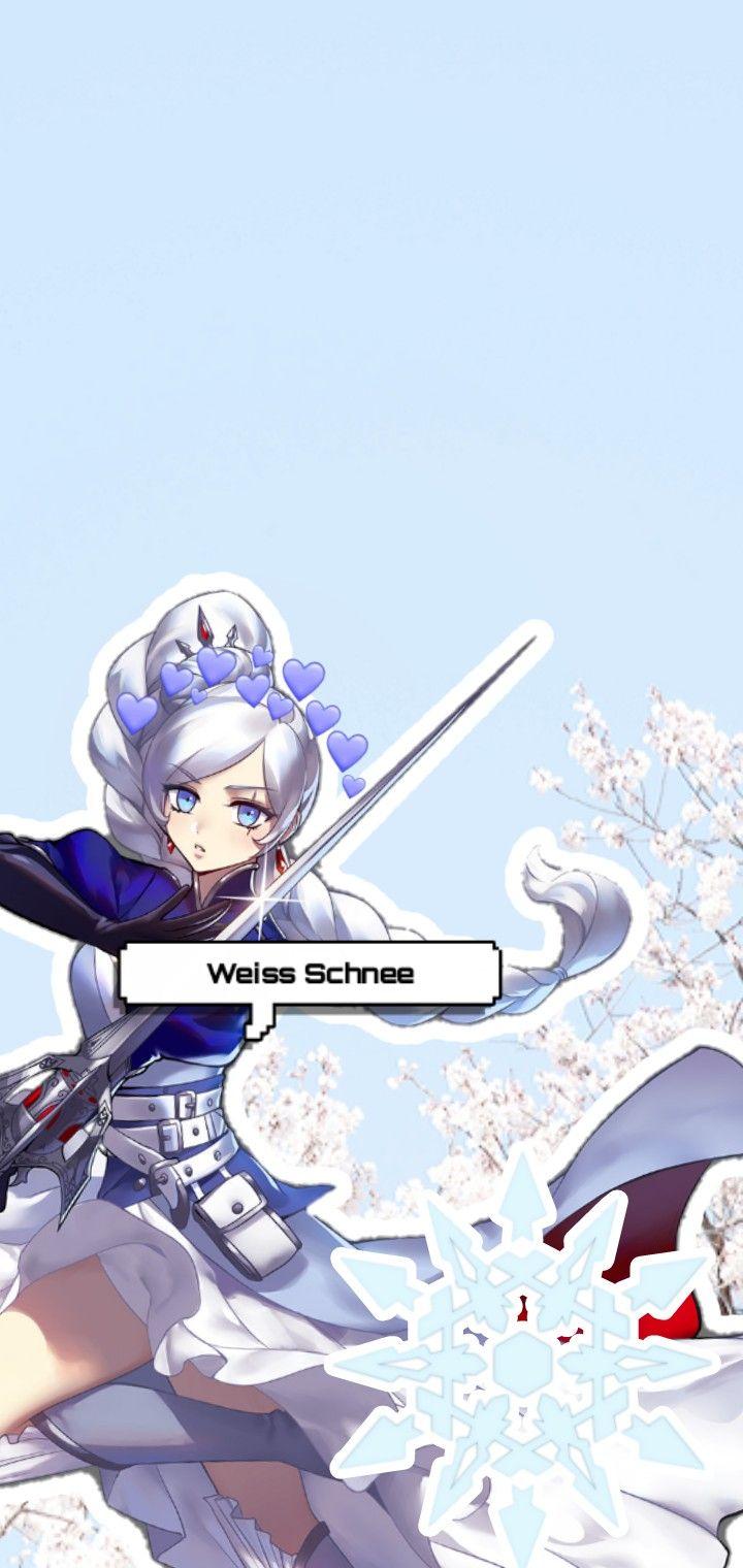 Rwby Weiss Schnee Aesthetic Wallpaper Rwby Rwby Weiss Anime