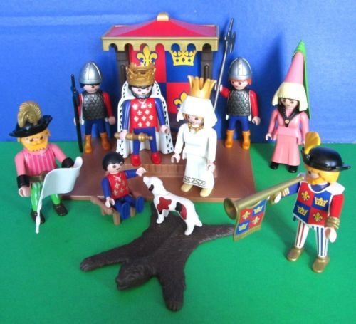 Playmobil Kings Court 3659 Set 8 Figures for Medieval Knights Castle 3666