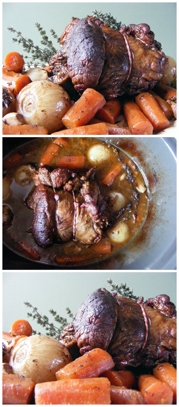 A simple but flavoursome slow cooked rolled brisket and the most popular recipe on my blog, so far!