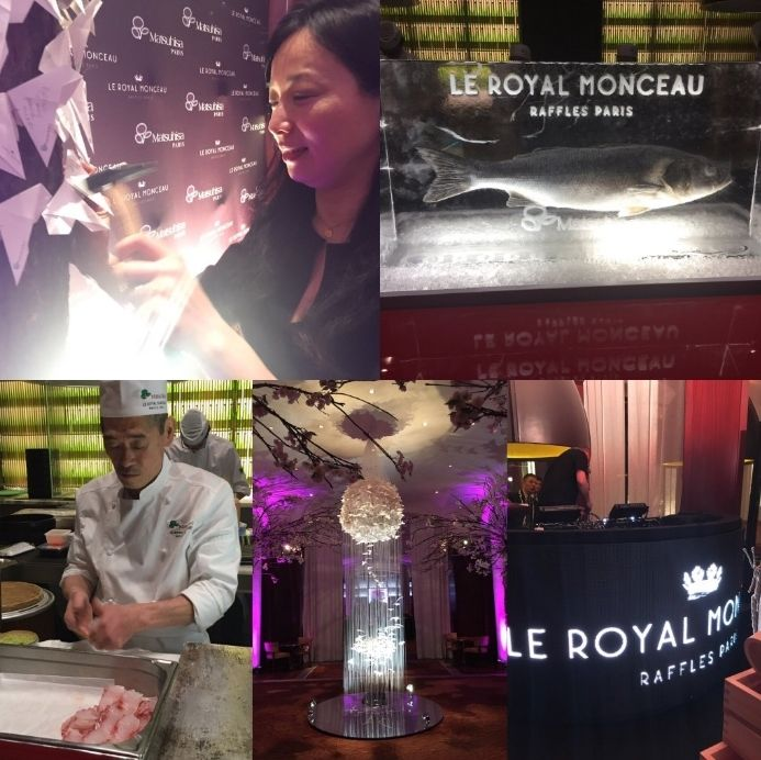 The grand opening #LeRoyalMonceau #Raffles #Paris #Nobu #NobuMatsuhisa #France #launch #restaurant #chef #Japan #food #foodie #travel #hotel #event