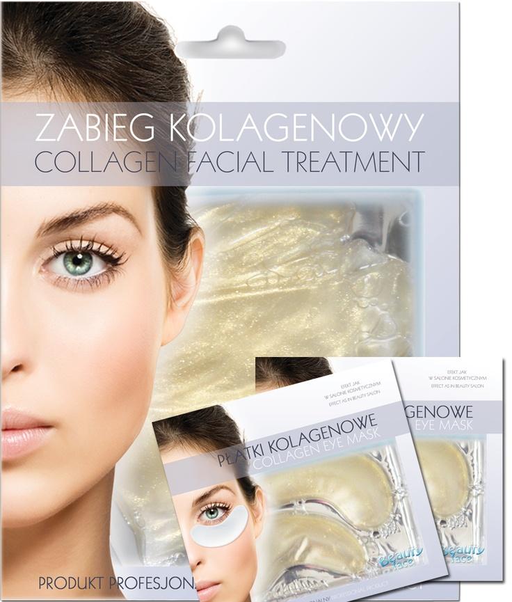 SUPER OFFER SET  Anty wrinkle collagen face mask + 2 pcs collagen eye patch - only 19,90 PLN