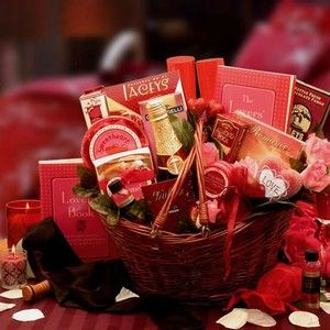 Heart To Heart Couple Romance Gift Basket $94.99