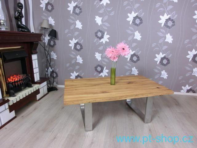 (968) CALEDONIA CHROME - Masivní konferenční stolek