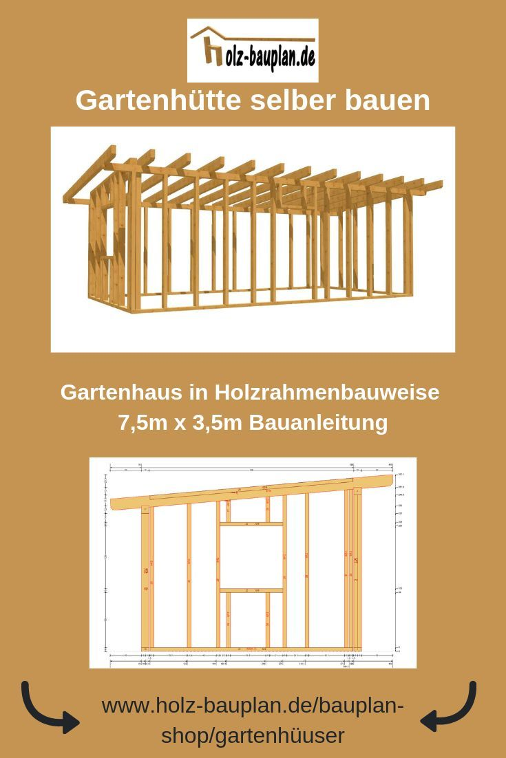 Gartenhaus Holz Pultdach Selber Bauen