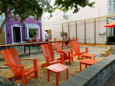 Evening star cafe launches patio pop up called 39 the front for Country porch coupon code