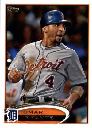 2012 Topps Update Series Baseball Card # US53 Omar Infante Detroit Tigers by Topps Update. $3.95. This is just one of the 330 great cards available from this product !. Great looking 2012 Topps Update Series Baseball Card. Card is in mint condition and comes shipped in a protective topload holder!. Check out other listings for more great baseball singles. These are great items for young collectors!. 2012 Topps Update Series Baseball Card # US53 Omar Infante Detroit...