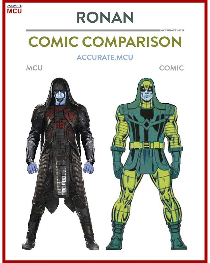 "8,276 curtidas, 82 comentários - • Accurate.MCU • mcu fanpage (@accurate.mcu) no Instagram: ""• RONAN COMIC COMPARISON • did you guys like Lee Pace his portrayal as Ronan the accuser?  I love…"""
