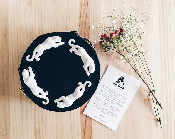 Andresgallardo Porcelain Panther Bag