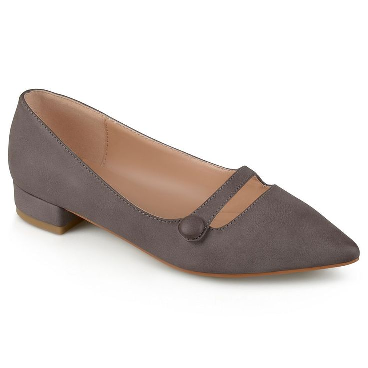 Journee Collection Vasha Women's Pointed Dress Shoes, Size: 8.5, Beig/Green (Beig/Khaki)