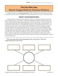Homework help charles dickens