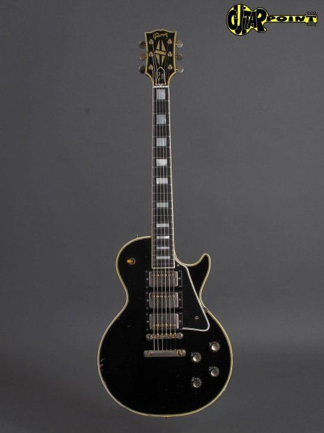 "$54,000 - 1960 Gibson Les Paul Custom - Ebony 3x PAF´s ! incl. orig Case Nice 1960 Les Paul Custom ""Black Beauty"" in excellent condition for its age, and all original. Great mahagony-neck, slim -profil but not thin or skinny at all, very comfortable to play. All 4 pots date to late 1959, the three original PAF pickups have their ""Patent Applied For"" decal on their baseplate, all original electronic with factory wiring! With ca. 4,4Kg this guitar is considerable ligtweight for a LP Custom, a…"