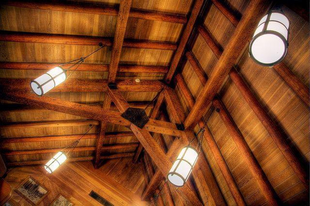Ceiling Lights in the Lodge at Silver Falls State Park