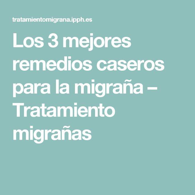 Los 3 mejores remedios caseros para la migraña – Tratamiento migrañas