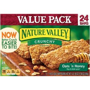 Nature Valley Oats 'n Honey Crunchy Granola Bars Sports Pack