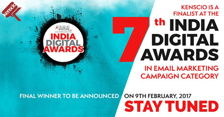 Just a step away! Kenscio is a finalist in Email Marketing Category for the 7th India Digital Awards - IAMAI. See the other finalists here: http://www.iamaiida.in/View-Shortlisted-Entries.html Look forward to the Gala night on 9th of February, 2017.