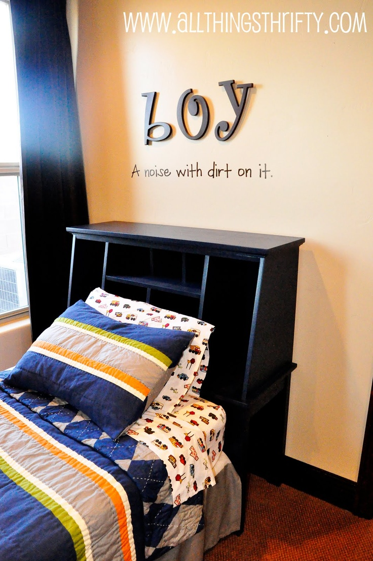Boy: A Noise with Dirt.  Idea for Maxwells's room