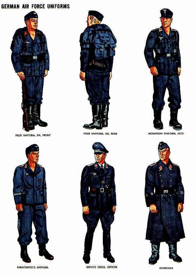 LUFTWAFFE, Uniforms