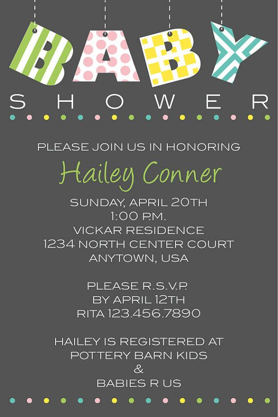 123 best Baby Shower Party Invitations images on Pinterest Baby