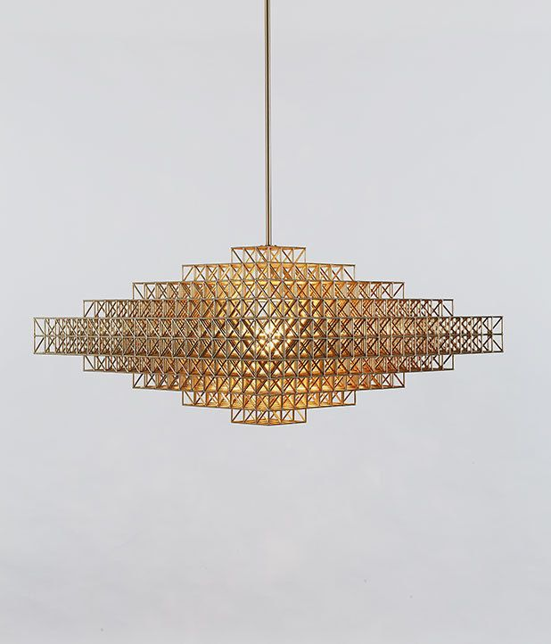 Gridlock Suspension Light by Philippe Malouin for Roll and Hill   Salone Del Mobile, Milan 2014.