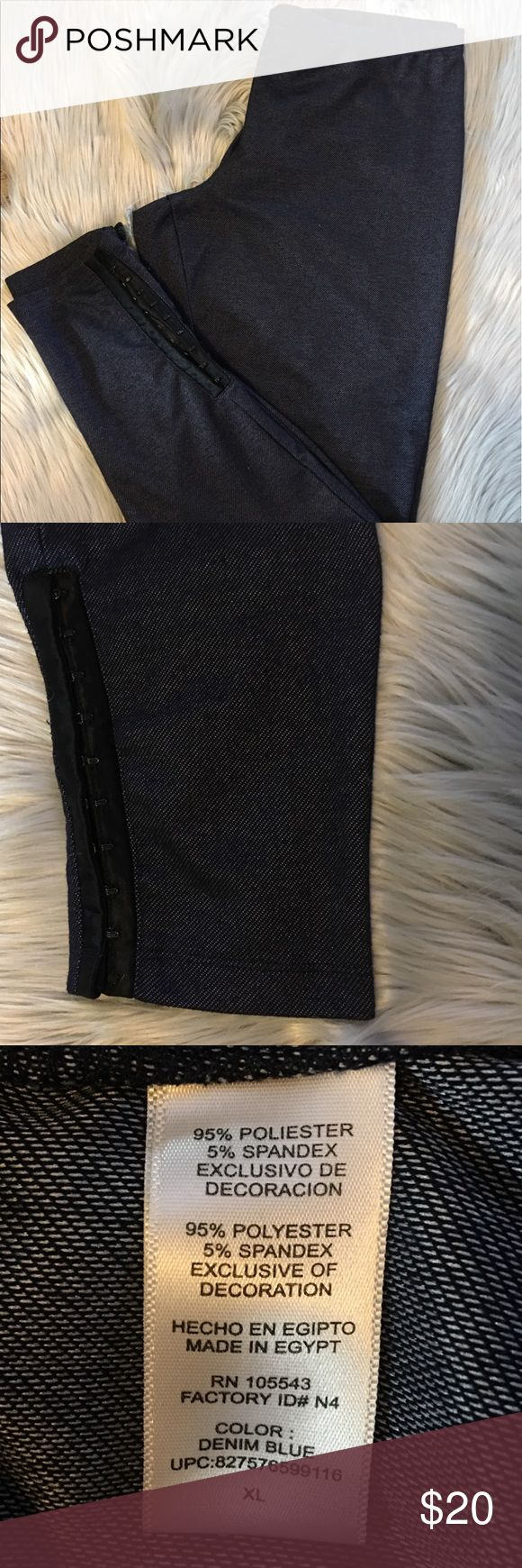 Daisy Fuentes sweats with a cute bottom-XL. Denim Daisy Fuentes sweats with a cute bottom-XL. Denim Blue in color. Cute design on the bottom. 95% polyester, 5% spandex. Daisy Fuentes Pants Track Pants & Joggers