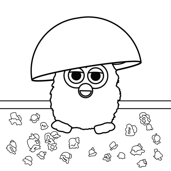 5 second rule! If you color it in the next 5 seconds, the popcorn is still good!
