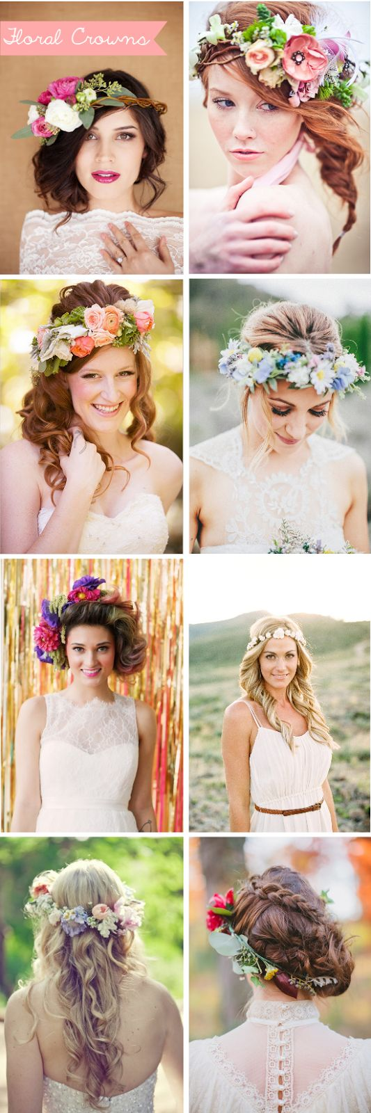 Bridal floral crowns