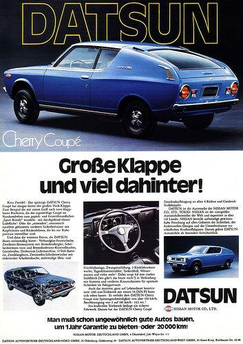 Datsun Cherry I - E10 120A Coupé - adv (1973)