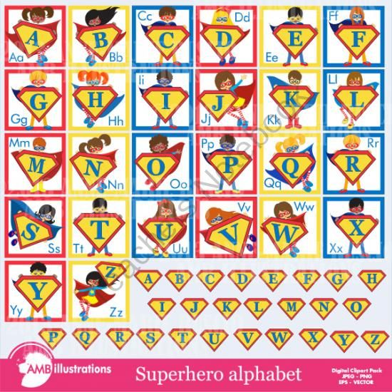 Superman Alphabet Letters - Alleghany Trees
