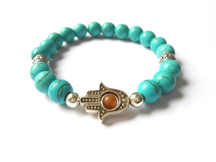 Women's Hamsa BraceletYoga Beaded BraceletMala by HVart on Etsy, $24.90