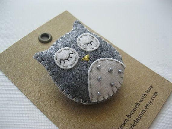 Спящая сова - лук пользователя Милана. Фото находится в альбоме Брошки из фетра.